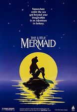 THE LITTLE MERMAID (1987) ORIGINAL MOVIE POSTER ADVANCE  - ROLLED - DOUBLE-SIDED
