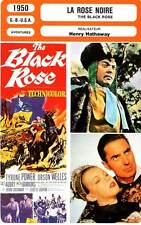 FICHE CINEMA : LA ROSE NOIRE - Power,Welles,Lom,Hathaway 1950 The Black Rose
