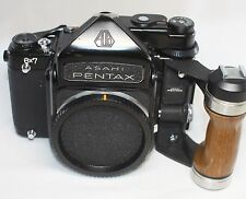 Excellent Pentax 6x7 TTL 67 Film Camera Body Only w/ Wood Grip Made In Japan