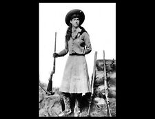 Young Annie Oakley PHOTO Rifles Hat,Buffalo Bill Wild West Show Sharpshooter