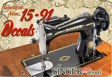 --  SINGER Model 15-91 COLOR CORRECT!!!!! Sewing Machine Gold Restoration DECALS
