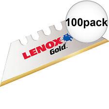 Lenox 100pk Gold Titanium Utility Blades 100D New