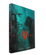 Vikings Season 4 Volume 2(DVD, 2017,3-Disc Set) Free shipping