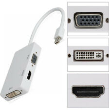 3in1 Adattatore mini displayport VGA DVI HDMI pr Apple MacBook Mac Book Air T5V