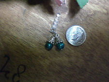 Pearl Cluster Teal Dust Plug Cell Phone Charm
