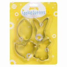 Huevo de Pascua Bunny Chica 4 Pack Cortadores De Galleta Pastel Decoración Molde de Galleta Set