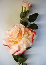 12 Stems Pink Giant Cabbage Rose & Bud Artificial Silk Flowers Clearance Offer