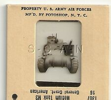 WWII US 35mm Recognition Slide Negative- Medium Tank- M3 Grant- Front View