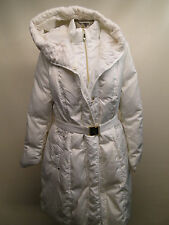 Pre-Owned Vince Camuto Women Knit Shawl Collar Belted Down Coat /Off White /L.