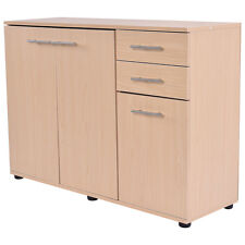 Storage Cabinet Cupboard Organizer Three Doors double Shelves Office  Furniture