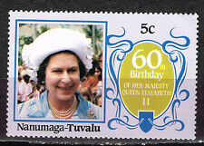 Tuvalu British Queen Elizabeth ll 60 Birthday stamp MNH