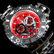 Invicta Sea Hunter III Red 70mm Full Sized Swiss Steel Chronograph Watch New