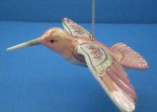 Lena Liu Precious Jewels Hummingbird Ornament Bradford Exchange Blush Beauty