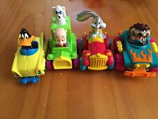 Looney Tunes Cars McDonald's Toy Figure Set Taz Daffy Bugs Bunny Porky Pig 1992