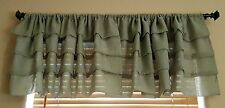Layered Window Valance Olive Green 52x18 JCP Home JC Penney Curtain Covering