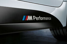 Pair M Performance Car Sticker 3D Emblem Badge Sport Logo For BMW M Series White