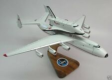 AN-225 Antonov Piggyback Space Shuttle Buran Airplane Wood Model Small New