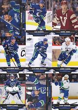 2013-14 Upper Deck Vancouver Canucks Complete Series 1 & 2 Team Set 13 Cards