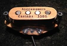 Wooden cigar box guitar 4 pole pickup avec alnico magnet polonais