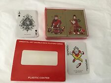 The Bomel Collection 1981 Oriental Art Double Deck Playing Cards plastic coated
