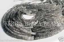 "16"" strand shaded RUTILATED QUARTZ smooth heishi gem stone rondelle beads 3mm"