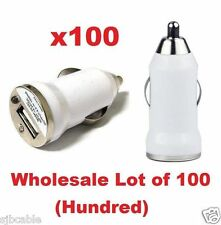 Lot 100 x White USB Universal Car Adapter Charger 1A iPhone 6 6+ 5s 5c Wholesale