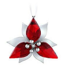 Swarovski Crystal-Poinsettia Ornament-Silver---Brand New & Boxed-Retired