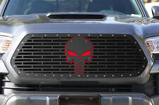 Steel Aftermarket Grille Kit fits 2016-2017 Toyota Tacoma TRD Grill RED PUNISHER