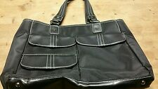 Womens Large black purse bag with laptop compartment