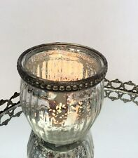Antique Style Pot Ribbed Vintage Tea Light Candle Holder Wedding Decoration