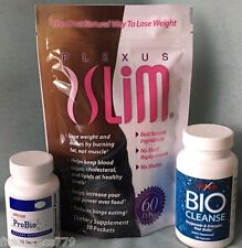 Plexus Slim 30 Day Supply TRIPLEX Weight Loss Combo w/ ProBio5 & BioCleanse