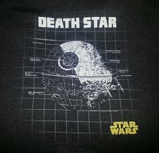 Star Wars T-Shirt Death Star Schematic Drawing Darth Vader NWOT Classic XL