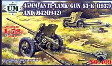 UM-MT Models 1/72 Soviet 53-K (1937) & M42 (1942) ANTI-TANK GUNS