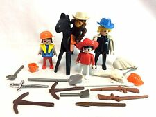 PlayMobil Vintage Mixed Loose Lot Black Horse Monkey People + Accessories Hats