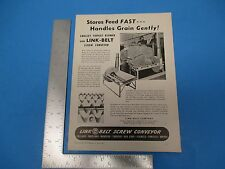 1947 Print Ad Link-Belt Screw Conveyor Stores Feed Fast Farm Machine Parts PA020