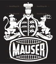 Mauser Firearms - Hunting/Outdoor Sports - Vinyl Die-Cut Peel N' Stick Decal