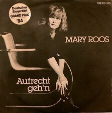 "Eurovision GERMANY 1984 MARY ROOS Aufrecht Geh'n 7"" single"