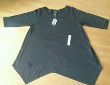 NEW Womens GRACE ELEMENTS Black 3/4 Sleeve Pullover Sweater Top Size MEDIUM M