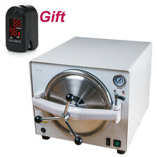 18L Dental Autoclave Steam Sterilizer tray Dental Lab Sterilizer【2-5 Day to US】