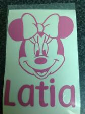 Personalised Minnie Mouse Car bumper window body decal wall door sticker