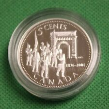 2001 CANADA 5 Cent Silver proof 125TH the Royal Military College coin only