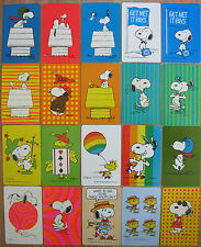 VINTAGE 70S SNOOPY PEANUTS PLAYING SWAP CARDS
