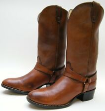 WOMENS VINTAGE ACME BROWN HARNESS COWBOY WESTERN BOOTS SZ 5.5~1/2 D USA MADE