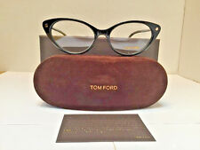 Tom Ford Women's Eyeglasses TF 5189 001 Cats Eye Shiny Black 54-17-140 NEW