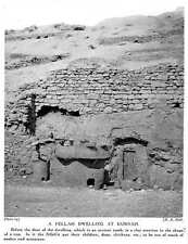 1913 Ancient Tomb Fellah Dwelling At Kurnah