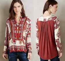 New Anthropologie Nahara Tunic By Tiny S Gorgeous Effortless Desk/Date Blouse