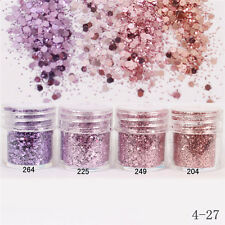 Pink Purple Glitter Powder Hexagon Shape Paillette Nail Sequins Nail Decor 204
