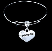 Godmother Bracelet  God mother  Godmom charm bracelet gift   Jewelry