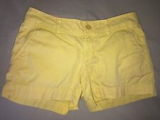 USED LILLY PULITZER SHORTS MISSES JUNIORS SZ 0 YELLOW PINK SO CUTE!