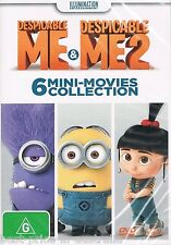 Despicable ME & Despicable ME 2: 6 MINI-MOVIES Collection DVD NEW RELEASE R4